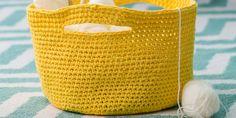 Tutorial: a crochet storage basket - Knitting 02 Chunky Knitting Patterns, Crochet Cardigan Pattern, Loom Patterns, Lace Knitting, Blanket Patterns, Crochet Storage, Diy Crochet, Crochet Baby, Scrappy Quilts