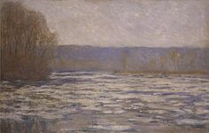'Break-up of the ice on the Seine, near Bennecourt' c. 1892-93, by Claude Monet. http://www.liverpoolmuseums.org.uk/walker/collections/paintings/19c/item.aspx?tab=summary&item=WAG+6133&hl=1&coll=8