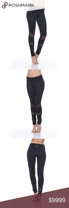 🆕 Mesh Panel Yoga Pants These chic leggings are perfect for getting your down dog on or dressing up with a fancy top! Material is quality and a good thickness, with mesh panels in the front and back of ankles. Mid rise with a zippered back pocket and small front pocket (on inside of waist band). Material is 87% Polyester and 13% Spandex. VegaBoutique Pants Leggings