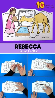 Rebecca Waters the Camels - Sunday School Crafts for kids