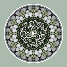 Spiral Tree Triskele, Mandala Art