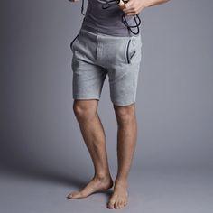 Grey Jersey Sweat Short - Luxury Men's Loungewear - Hamilton and Hare