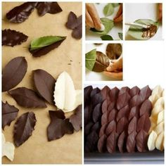 Chocolate leaves a great addition to the cake ... #cooking #culinary #recipes