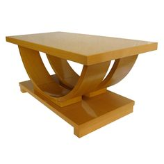 1stdibs - Modernage American Art Deco Streamline Blond Coffee Table explore items from 1,700  global dealers at 1stdibs.com