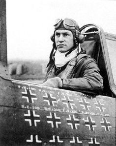 "history-museum: "" ace Robert S. Johnson, the first American pilot to surpass Eddie Rickenbacker's WWI victory total of sits in his plane. Taken between 30 January and 20 February Wilhelm Ii, Kaiser Wilhelm, Eddie Rickenbacker, Photo Avion, Robert Johnson, Flying Ace, Military Personnel, Military Uniforms, Fighter Pilot"