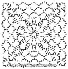 ABC Knitting Patterns - Square Motif for a summer cardigan.