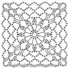 ABC Knitting Patterns - Square Motif Headband.
