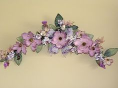 New Flower Swag Magnolia Dogwood Berry Lavender by tlgsilkfloral, $34.95