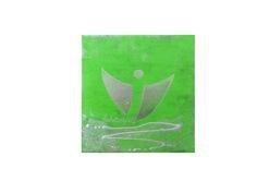 """Engelbild """"Kleiner Schutzengel"""" auf Leinwand Keilrahmen, handgemaltes Original, in grün silber von Susannes Kreativ-Lädchen auf DaWanda.com"""