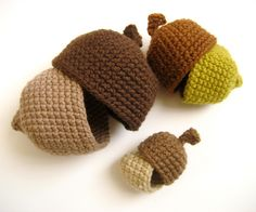 Ravelry: Nesting Acorns Crochet Pattern pattern by Amy Gaines
