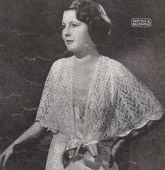 Gloria1930s- cardigan or bedjacket - vintage Australian knitting Epattern (PDF)