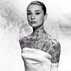 Des tatouages ajoutés à des photos célèbres de stars star tatouage 06