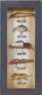 River's Edge Fishing Lure Shadow Box
