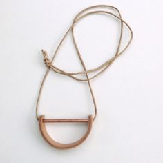 copper and leather necklace