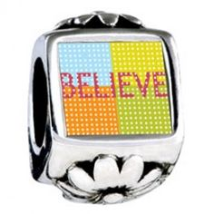Multicolored Believe European Charms  Fit pandora,trollbeads,chamilia,biagi and any customized bracelet/necklaces. #Jewelry #Fashion #Silver# handcraft #DIY #Accessory