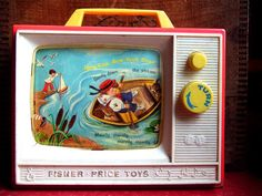 Fisher-Price Toy TV Circa 1966 Plays Row, Row, Row Your Boat & London Bridge Manufactured by the Fisher-Price Toy Company © Copyright 1966 Digital Photograph Copyright © 2008 David Pohl HOP Jouets Fisher Price, Fisher Price Toys, Vintage Fisher Price, My Childhood Memories, Childhood Toys, Sweet Memories, Baby Mobile, Vintage Tupperware, 80s Kids