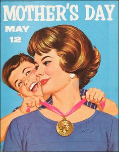 Mid Mod Mother's Day poster by Arthur Sarnoff.