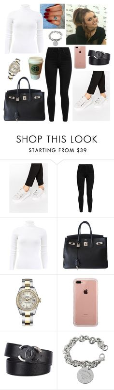 """Untitled #3049"" by outfitstowear ❤ liked on Polyvore featuring MANGO, KG Kurt Geiger, Levi's, Michael Kors, Hermès, Rolex, Belkin, Chanel and Tiffany & Co."