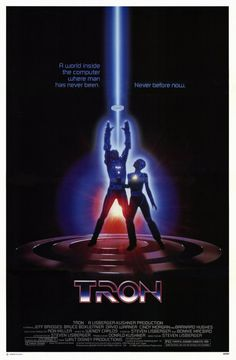 Tron , starring Jeff Bridges, Bruce Boxleitner, David Warner, Cindy Morgan. A hacker is abducted into the world of a computer and forced to participate in gladiatorial games where his only chance of escape is with the help of a heroic security program. #Action #Adventure #Sci-Fi