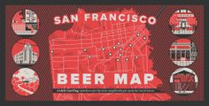 """San Francisco Beer Map - """"there's a good local brew somewhere nearby"""""""