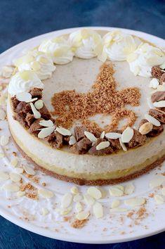 Gevulde speculaas cheesecake - Francesca Kookt Strudel, Cheesecake, Food, Cheese Cakes, Cheesecakes, Meals, Cherry Cheesecake Shooters