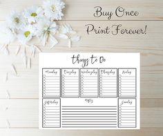 To Do List Printable  Checklist Printable  by BalancedRemnants