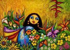 Resultado de imagem para pintura mexicana indigena