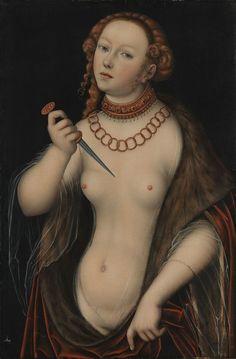 Lucretia, 16th century, by Lucas Cranach the Elder (1472–1553)