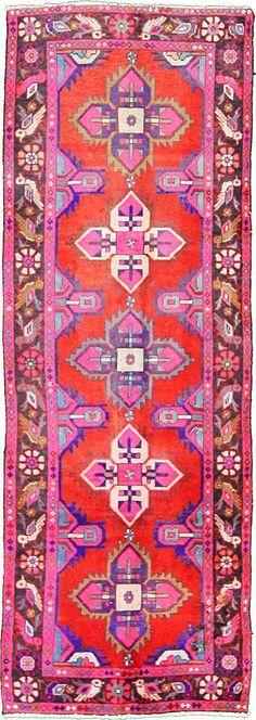 Red 3' 3 x 9' 3 Hamedan Rug | Persian Rugs | eSaleRugs