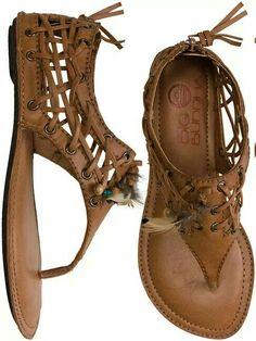 Big Buddha brown leather native sandals #Shoes @JenniferW