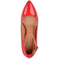 Brinley Co. Brinley Co.Womens Almond Toe Ankle Strap Pumps 3