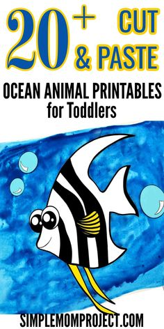 Are you looking for an easy diy activity for your kids? Here's over 20 ocean animal printable templates for kids to enjoy at their next Under the Sea Party. From cute printable dolphins & clams to octopus & turtles - there's a whole set of sea animal printable templates for your little ones to cut and paste right here. Ocean animal printables are also a fun way to learn the alphabet with your kids, so get your ocean animal templates today! Animal Templates, Printable Templates, Printable Crafts, Printables, Sea Animal Crafts, Animal Crafts For Kids, Easy Crafts For Kids, Printable Animals, Water Animals