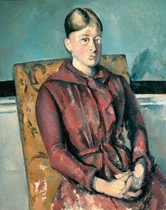 Paul Cézanne, Madame Cezanne Au Faute Vil Jaune-'Madame Cezanne in a Yellow Armchair' on ArtStack #paul-cezanne #art