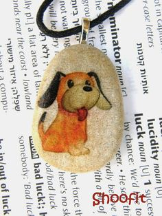 Dog Dog necklace puppy puppy necklace dog pendant by Shoofit