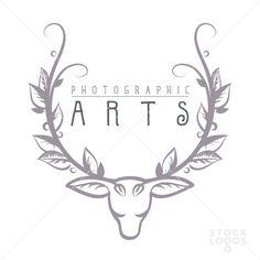 deer head antler leaves | StockLogos.com