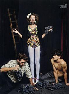Simone Nobili & Elbio Bonsaglio Sport Dolce & Gabbana's Spring Collection for Harper's Bazaar Russia