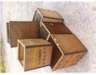 5 X vintage tea chests