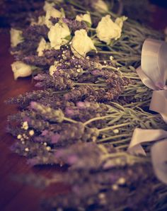Dried lavender and roses