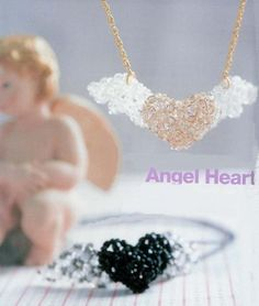 heart of beads and beads with wings scheme