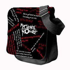 MY CHEMICAL ROMANCE Rock Band Emo MEDIUM Pilot Shoulder Bag