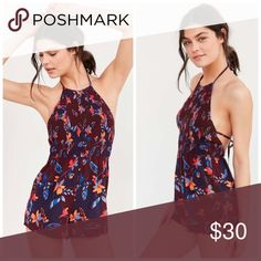 """NWT Urban Outfitters Smocked Halter Romper new with tags • originally $49 • open to reasonable offers, bundle offers encouraged 📬📦 Due to the price of shipping I highly encourage bundling - you can custom create bundles by selecting """"add to bundle"""" under each item! Urban Outfitters Pants Jumpsuits & Rompers"""