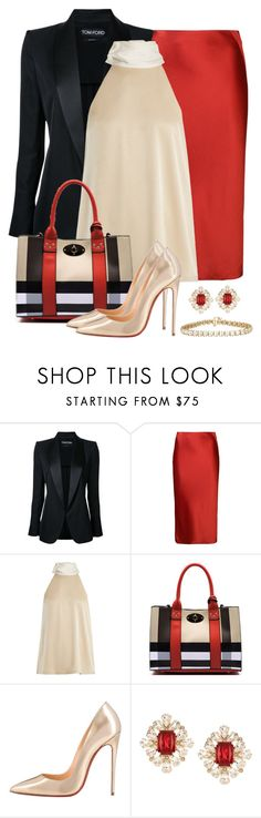 """Untitled #1599"" by gallant81 ❤ liked on Polyvore featuring Tom Ford, T By Alexander Wang, Galvan, Christian Louboutin and Dsquared2"