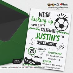 Soccer Birthday Party invitations All Star Sports Birthday Party printable invitations Watercolors birthday invitations Photo Invitations, Watercolor Invitations, Printable Invitations, Party Printables, Birthday Party Invitations, Easter Printables, Soccer Birthday Parties, Sports Birthday, Soccer Party