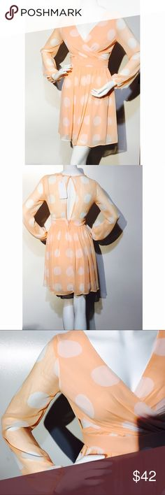 Nwt Brand new Lily Boutique   Sz small   Super flattering. Color is like a peach Mystic Dresses Mini