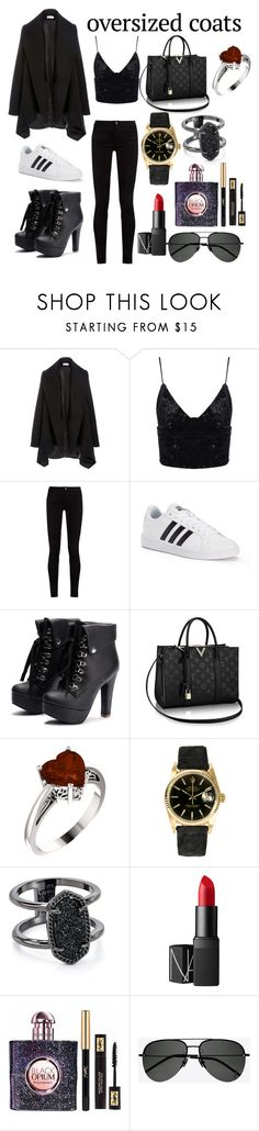 """Untitled #3"" by baby-kesha-mua ❤ liked on Polyvore featuring Gucci, adidas, Rolex, Kendra Scott, NARS Cosmetics and Yves Saint Laurent"