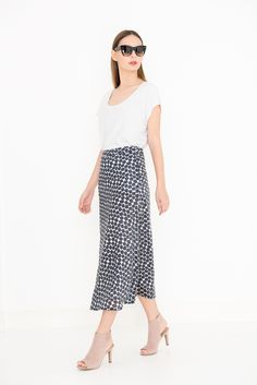 Long summer skirt lyocell, lined with cotton