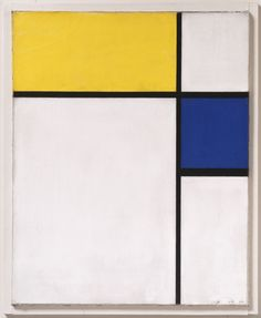 Composition with Blue and Yellow  Piet Mondrian, Dutch, 1872 - 1944  Date: 1932 Medium: Oil on canvas Dimensions: 16 3/8 x 13 1/8 inches (41.6 x 33.3 cm)