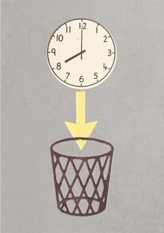 clock in bin, wish I could do that
