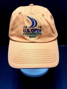 US Open 2015 Chambers Bay Golf Hat USGA Member Orange Strapback Adjustable   USGA. Nan s Nearly New · Nan s Baseball Hats ... 850b8032af78