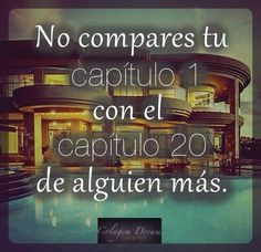 No te compares.